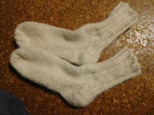 娘の家用靴下  2足完成