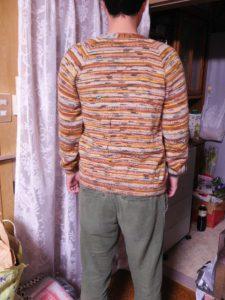 opal毛糸のVネックカ-ディガン ネックからの編み方